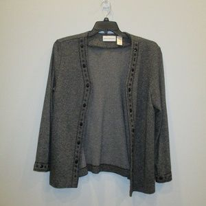Alfred Dunner Open Front Sweater Size 14 Jeweled